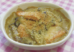 米粉レシプ 鮭の和風グラタンの写真
